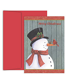 Masterpiece Studios Classy Snowman Boxed Holiday Cards