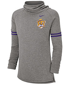 Nike Women's LSU Tigers Funnel Neck Long Sleeve T-Shirt