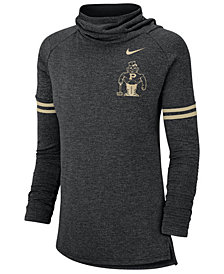 Nike Women's Purdue Boilermakers Funnel Neck Long Sleeve T-Shirt