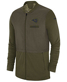 Nike Men's Los Angeles Rams Salute To Service Elite Hybrid Jacket