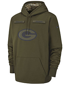 Nike Men's Green Bay Packers Salute To Service Therma Hoodie
