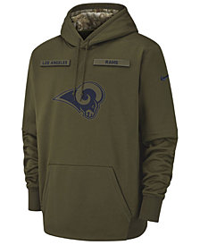 Nike Men's Los Angeles Rams Salute To Service Therma Hoodie