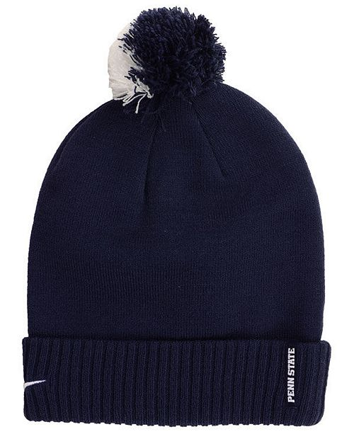 88f8c23f ... promo code for nike penn state nittany lions beanie sideline pom hat  sports fan c1e05 f3d50