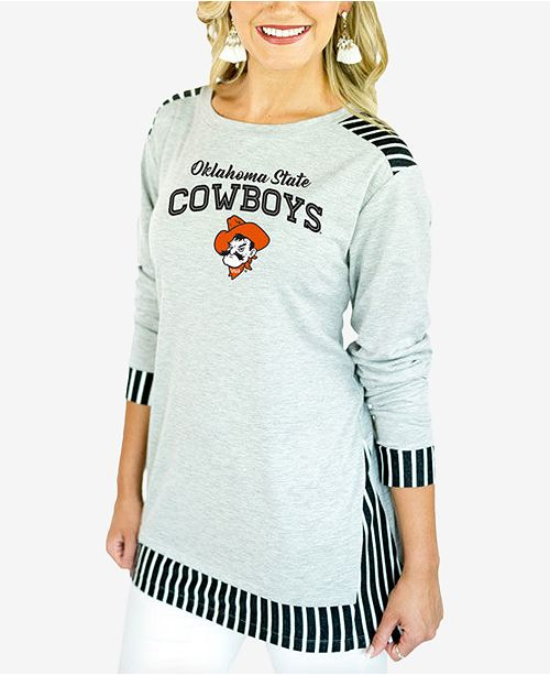 Gameday Couture Women's Oklahoma State Cowboys Striped Panel Long Sleeve T-Shirt