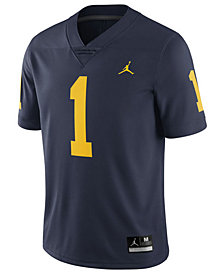 Jordan Michigan Wolverines Replica Football Game Jersey, Little Boys (4-7)