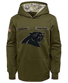 Nike Carolina Panthers Salute To Service Therma Hoodie, Big Boys (8-20)