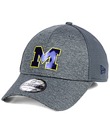 New Era Michigan Wolverines Shaded Luster 39THIRTY Stretch Fitted Cap