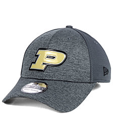 New Era Purdue Boilermakers Shaded Luster 39THIRTY Stretch Fitted Cap