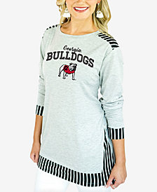 Gameday Women's Couture Georgia Bulldogs Striped Panel Long Sleeve T-Shirt