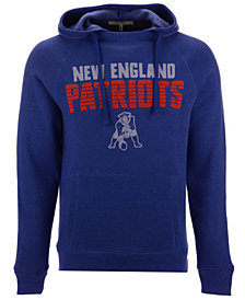 Authentic NFL Apparel Men's New England Patriots Out & Up Hooded Sweatshirt