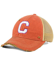 Retro Brand Clemson Tigers Retro Distressed Trucker Snapback Cap