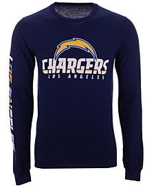 Authentic NFL Apparel Men's Los Angeles Chargers Streak Route Long Sleeve T-Shirt