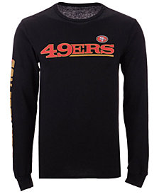 Authentic NFL Apparel Men's San Francisco 49ers Streak Route Long Sleeve T-Shirt