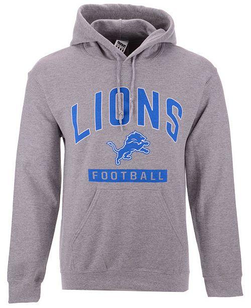 Authentic NFL Apparel Men's Detroit Lions Gym Class Hoodie