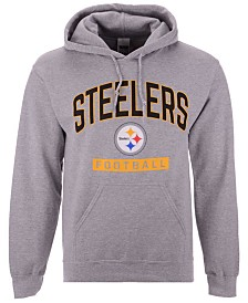 Authentic NFL Apparel Men's Pittsburgh Steelers Gym Class Hoodie