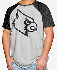 Retro Brand Men's Louisville Cardinals Tonal Short Sleeve Raglan T-Shirt