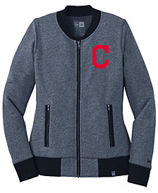 New Era Women's Cleveland Indians French Terry Full-Zip Jacket