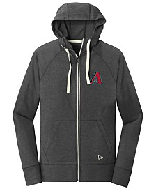 New Era Arizona Diamondbacks Triblend Fleece Full-Zip Sweatshirt