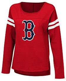 Touch by Alyssa Milano Women's Boston Red Sox Free Agent Long Sleeve T-Shirt