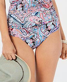 La Blanca Swirling Around Printed Bikini Bottoms