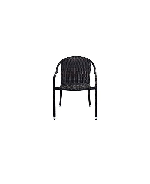 Crosley Palm Harbor Outdoor Wicker Stackable Chairs Set