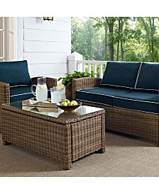 Bradenton Outdoor Wicker Loveseat With Cushions