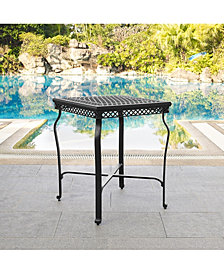 Portofino Cast Aluminum Bar Height Bistro Table