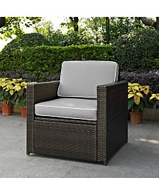 Palm Harbor Outdoor Wicker Arm Chair With Cushions
