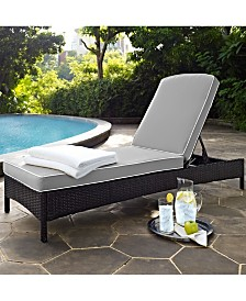 Palm Harbor Outdoor Wicker Chaise Lounge With Cushions