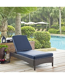 Palm Harbor Outdoor Wicker Chaise Lounge