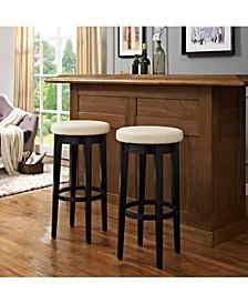 Mitchell Swivel Bar Stool With Cushion, Set Of 2