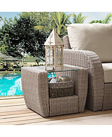 St Augustine Outdoor Wicker Side Table