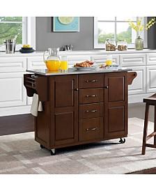 Eleanor Stainless Steel Top Kitchen Cart