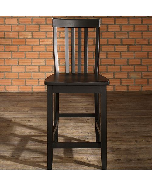 "Crosley School House Bar Stool With 24"" Seat Height (Set Of 2)"