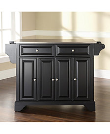 Lafayette Stainless Steel Top Kitchen Island