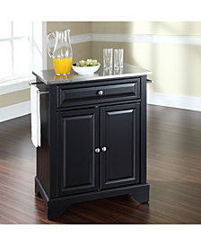 Lafayette Stainless Steel Top Portable Kitchen Island