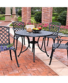 "Sedona 42"" 5 Piece Cast Aluminum Outdoor Dining Set With High Back Arm Chairs"