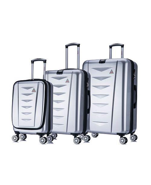 InUSA AirWorld 3-Pc. Lightweight Hardside Spinner Luggage Set