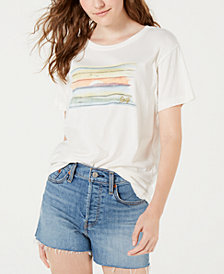 Roxy Juniors' Cotton Graphic-Print Boyfriend T-Shirt
