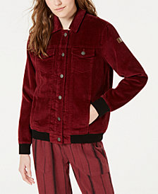 Roxy Juniors' Fleece-Lined Corduroy Jacket