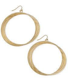 Thalia Sodi Gold-Tone Multi-Row Twist Extra Large Hoop Earrings, Created for Macy's