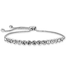 Charter Club Silver-Tone Crystal Slider Bracelet, Created for Macy's