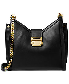 MICHAEL Michael Kors Whitney Polished Leather Chain Shoulder Tote