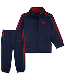 adidas Baby Boys 2-Pc. Three Stripe Track Jacket & Pants Set