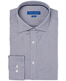 Vince Camuto Men's Slim-Fit Comfort Stretch Mini Diamond Dobby Dress Shirt