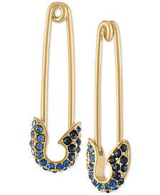 RACHEL Rachel Roy Gold-Tone Pavé Safety Pin Drop Earrings