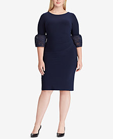 Lauren Ralph Lauren Plus Size Taffeta-Jersey Dress