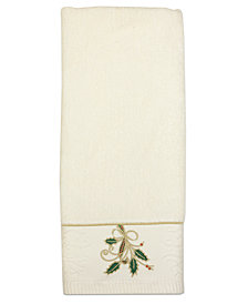 Lenox Bath Towels Ribbon And Holly