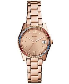 Women's Scarlette Rose Gold-Tone Stainless Steel Bracelet Watch 32mm