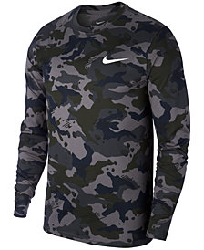 Nike Men's Dry Camo-Print Training Shirt